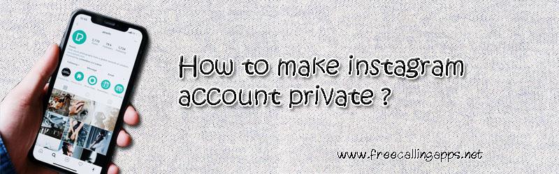 instagram account private