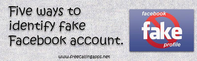 Identify Fake Facebook Account