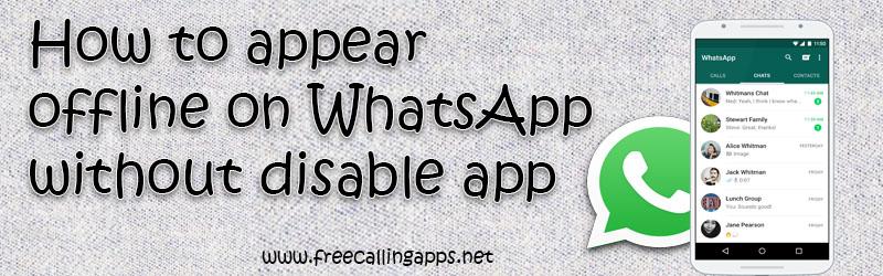 appear offline on WhatsApp